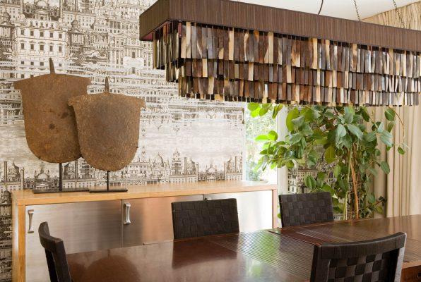 Interior Photograph of a dining room in an Dubai private villa