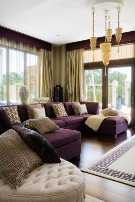 Living room in a luxury Al Barari villa, Dubai